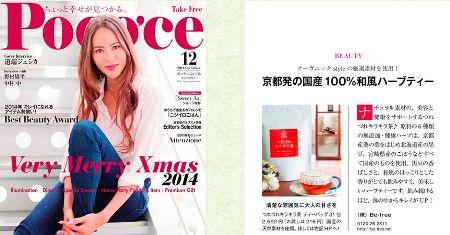 女性誌のpoco'ce12月号で紹介されました