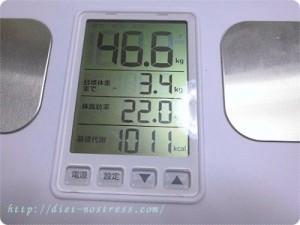 2015/0614の体重測定